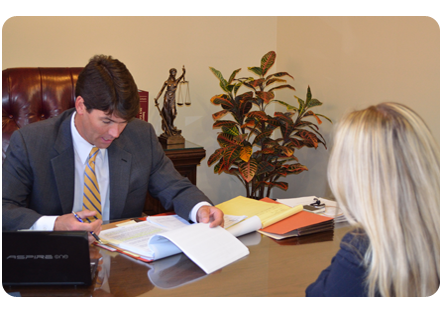 Attorneys working on a criminal defense case.